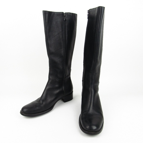 7f2c8fe9e Rockport Black Zip Leather Boots Womens 10M. M 5b6cd0a0534ef9911b4384d1